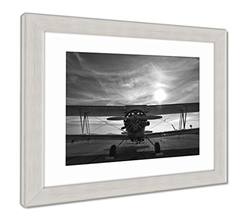 (Ashley Framed Prints A Crop Duster Sits On A New Mexico Runway, Wall Art Home Decoration, Color, 34x40 (Frame Size), Silver Frame, AG6398377)