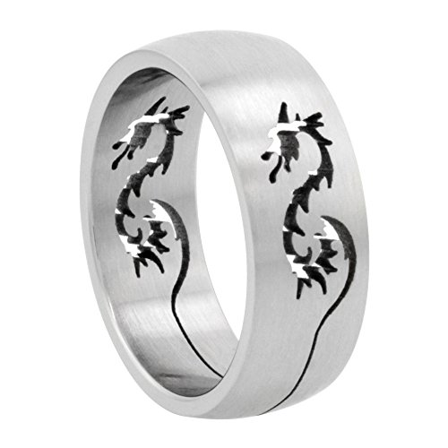 Surgical Stainless Dragon Wedding Cut out