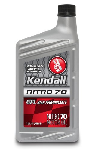 Price comparison product image Kendall 1043073 GT-1 High Performance Nitro 70 Motor Oil for Nitromethane and Alcohol-Fueled Competition Engines - 1 Quart Bottle (Case of 12)