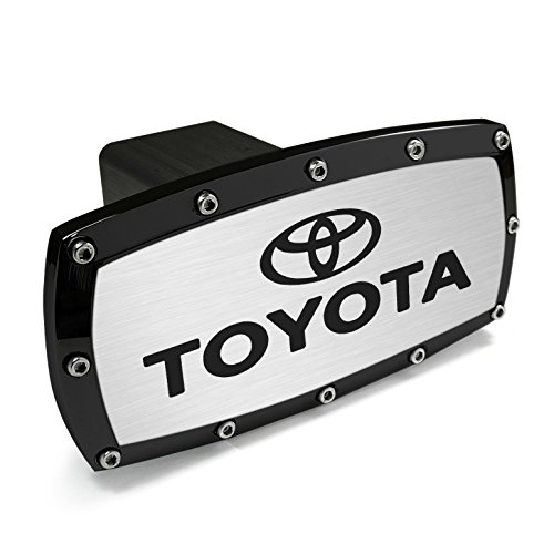 Toyota Logo Black Trim Billet Aluminum Tow Hitch Cover