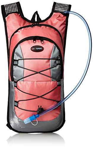 Monvecle Hydration Pack Water Rucksack Backpack Bladder Bag Cycling Bicycle Bike/Hiking Climbing Pouch + 2L Hydration Bladder - Pink Hydration Pack
