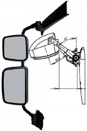 A1/Artikel LTD 71101/Hauptspiegel Plus kurz Arm Montage 880/mm x 340/mm x 155/mm schwarz