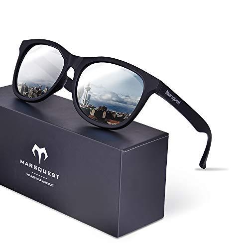 Polarized Sunglasses for Men Women, Anti-Slip Sport Sunglasses UV 400 Protection (Carbon Black × ()