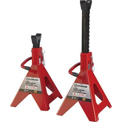 Strongway Double-Locking Jack Stands - Pair, 6-Ton Capacity, 15 5/16in.-23 13/16in. Lift - Torin Stands Jack
