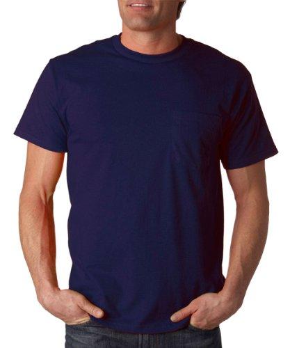 Fruit of the Loom 3930PR - Heavy Cotton HD T-Shirt with a Left Chest (Fruit Of The Loom Chest Pocket T-shirt)