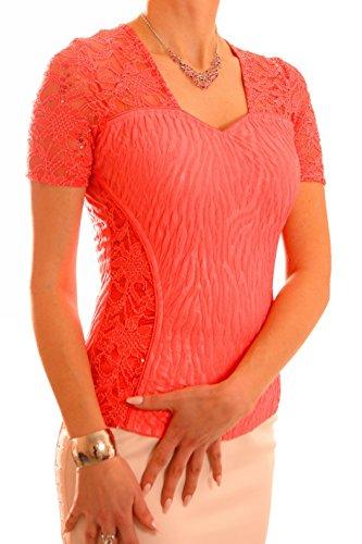 Poshtops - Camisas - para mujer Coral