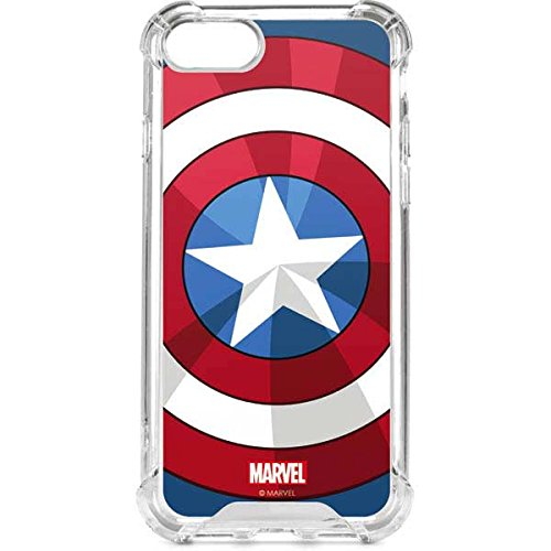 - Skinit Captain America Emblem iPhone 8 Clear Case - Officially Licensed Marvel/Disney Phone Case Clear - Transparent iPhone 8 Cover