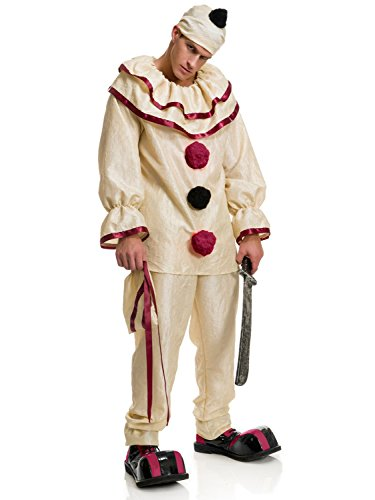 Charades Men's Horror Clown, As Sample, X-Large (Clown Costumes)