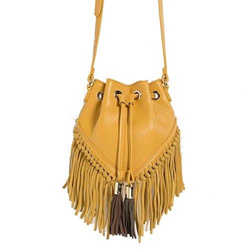 Walcy PU Leather European And American Fashion Women's Handbag, Fringed Bag (Snoopy Aviator Costume)