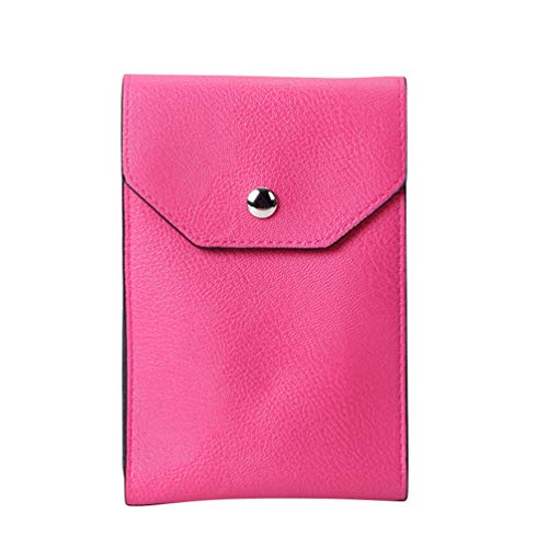 Single Rose Mini Red Wallet Artificial Shoulder Clutch Multifunctional Women Phone Leather Cell Kairuun Bag Bags Crossbody U5FRw5q