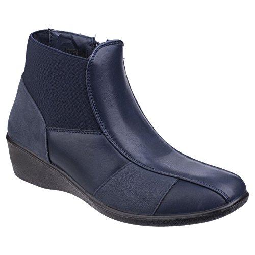 Fleet & Foster Womens/Ladies Festa Ankle Boots Navy