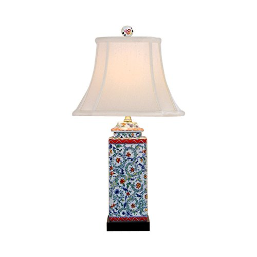 Beautiful Floral Porcelain Temple Jar Table Lamp 23