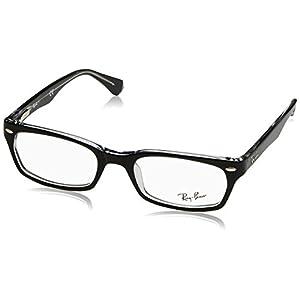 Ray-Ban Women's RX5150 Rectangular Eyeglasses,Top Black & Transparent,50 mm