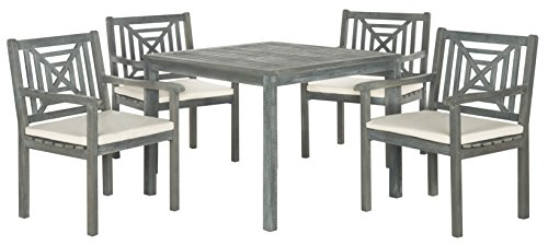 Safavieh Outdoor Living Collection Del Mar 5-Piece Dining Set, Ash (Collection Patio Dining Set)