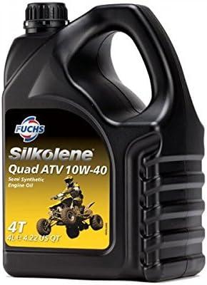 Aceite Quad ATV 10 W-40 para todo tipo de motocicletas (4 l), de Silkolene: Amazon.es: Coche y moto