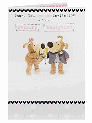 (Boofle Evening Reception Acceptance RSVP Greeting Card)