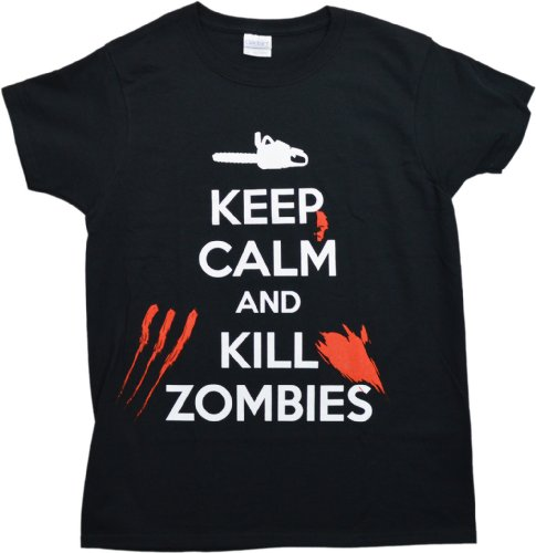 Keep Calm and Kill Zombies | Zombie Hunting Apocalypse Ladies' T-shirt