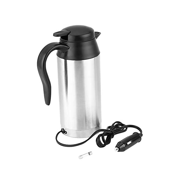 41pNr8apSCL 750 ml 12 V Wasserkocher, Auto Edelstahl Zigarettenanzünder Heizung Wasserkocher Becher Elektrische Thermoskanne zum…