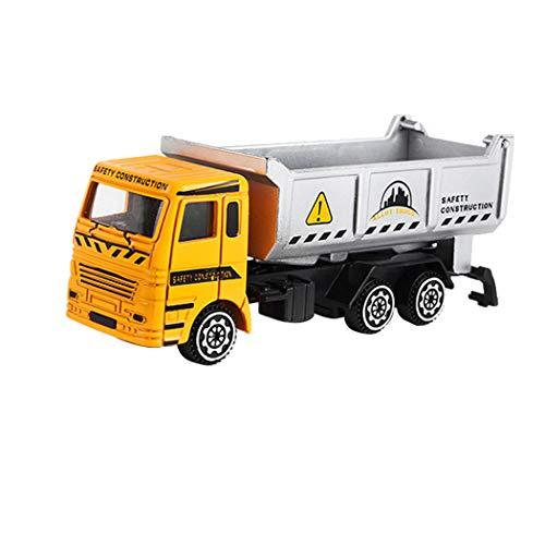 Inkach 建設車両モデル エンジニアリングカー おもちゃ 摩擦式ダンプトラック セメントミキサーと掘削機付き 子供用 カーモデル おもちゃ One Size マルチカラー IN-1