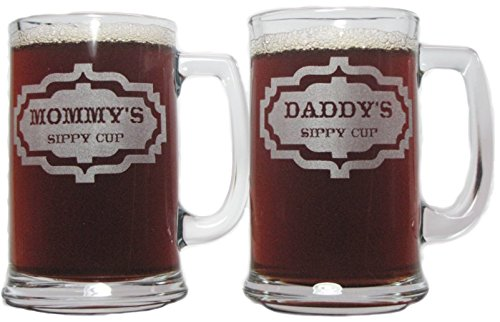 Mommy's and Daddy's Sippy Cups 15oz. Beer Mugs with Handle
