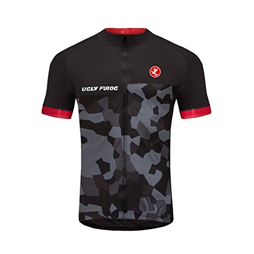 Amazon.com : Uglyfrog 2018 Mens Short Sleeve Cycling Jersey ...