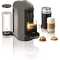 Nespresso VertuoPlus Coffee and Espresso Maker with Aeroccino Milk Frother (Grey)