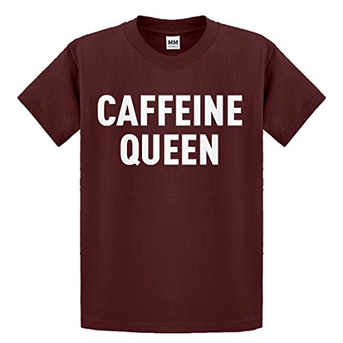 Indica Plateau Youth Caffeine Queen Small Maroon Kids T-Shirt