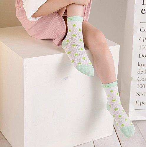 di piselli 5 Aivtalk verde cotone modello in anni pettinato per Ragazza chiaro 6 morbidi calzini bebè 0 traspirante ragazzo strisce Set stellate 7qWnqx8wE5