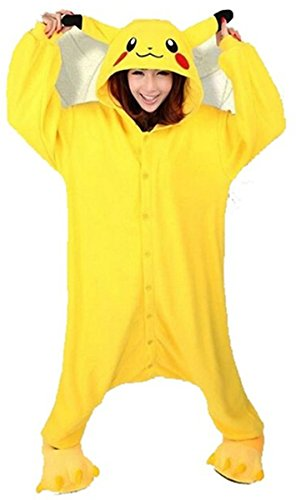 WOWcosplay Deal Anime Pokemon Pikachu Romper Pajamas Costume Cosplay Outfit