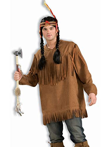 Forum Novelties Men's Native American Costume Shirt, Brown, One Size