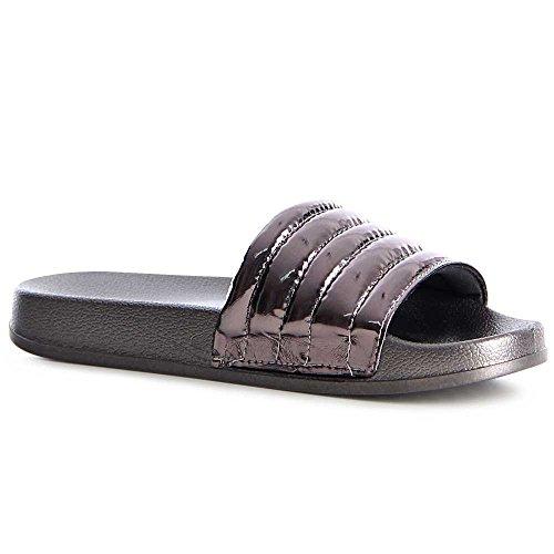 topschuhe24 - Sandalias de vestir de otros para mujer gris plateado