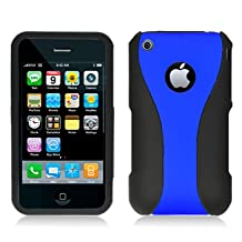 Aimo Wireless IPHONE3GSPCMX3IN1002 Guerilla Armor Hybrid Case for iPhone 3G/3GS - Retail Packaging - Blue/Black