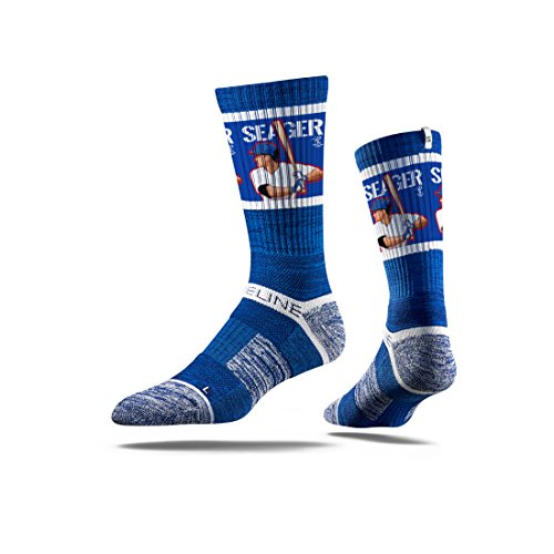 Strideline MLB PA Los Angeles Dodgers Corey Seager Premium Crew Socks, Blue, One Size