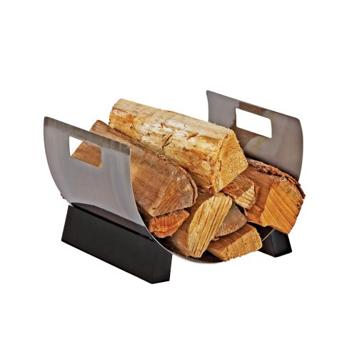 Pleasant Hearth Plated Pewter Log Holder