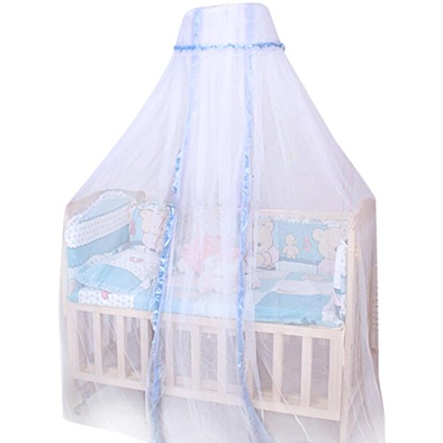 Jumbo Bassinet (Yeefant 1 Pcs Round Dome Baby Infant Mosquito Net Toddler Bed Crib Canopy Netting White Babe for Home Travel Camping Playpens Bassinets Cribs Smaller Beds,66.9 x 165.4 Inch)