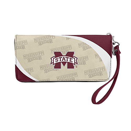 Mississippi State Bulldogs Wallet - NCAA Mississippi State Bulldogs Curve Zip Organizer Wallet