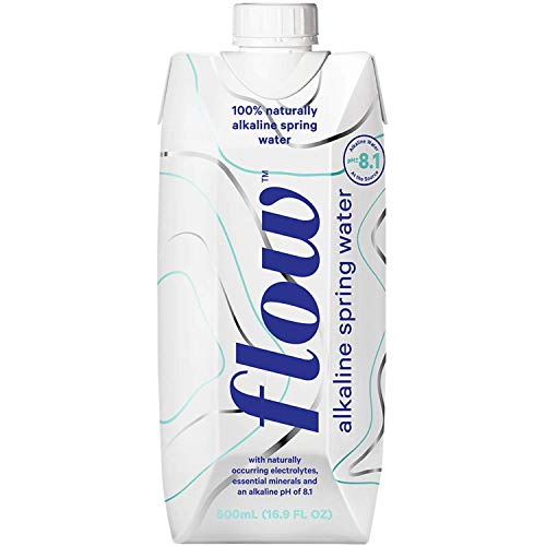 Flow Alkaline Spring Water - 100% naturally alkaline spring water in eco-friendly packaging - (Pack of 12 x 500ml) ()
