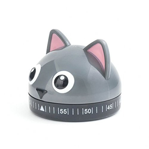 Kikkerland Timer - Kikkerland Kitchen Timer, Cat, Multicolor