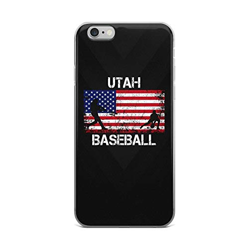 (iPhone 6 Plus/6s Plus Pure Clear Case Cases Cover Utah Baseball Team American Flag Independence Day Patriotic Design 4th of July USA)