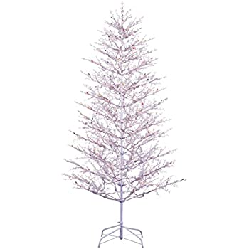 ge 5 ft indooroutdoor winterberry pre lit artificial christmas tree with multicolor - White Outdoor Christmas Tree