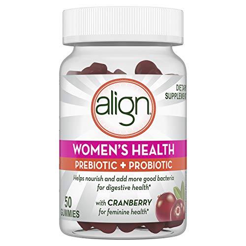 Align Women's Prebiotic + Probiotic Supplement Gummies, with Cranberry for Feminine Health, #1 Doctor Recommended Brand 50 Ct