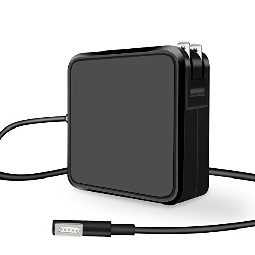 Mabcook Air Charger, 45W Magsafe L-Tip Power Adapter Charger replacement for MacBook Air 11/13 inch (Black)