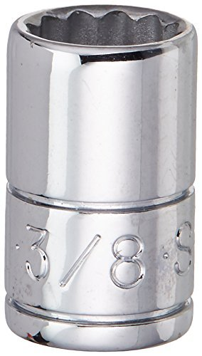 SK Hand Tool 43912 12 Point 1/4-Inch Drive Standard Socket, 3/8-Inch, Chrome ()