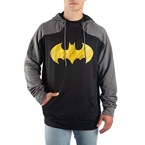 Batman Hoodie DC Comics Apparel Batman Clothing - DC Comics Hoodie Batman Apparel Batman Gift Black/Charcoal