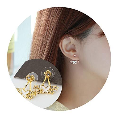 (Daisy Stud Earring Pearl Shell Snowflake Floral Earrings Women Jewelry Gifts,9)