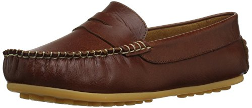 Elephantito Boys' Alex Driver Driving Style Loafer, Natural, 5 M US Toddler
