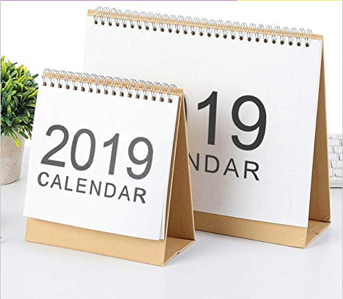 2019 Monthly Desk Pad Calendar with Stand, Twin-Wire Binding,Monthly Planners For Office,School,Family (Best Wall Tent 2019)