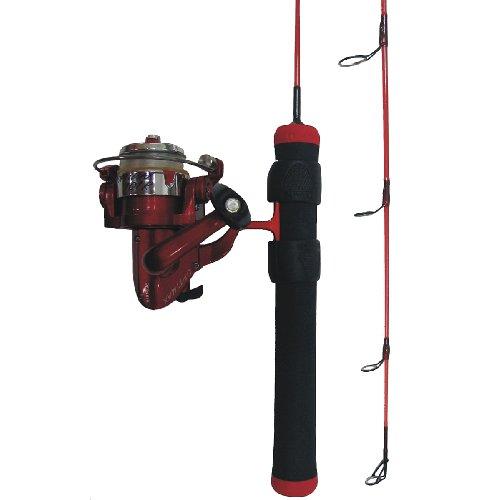 HT Enterprise RH-24MSC Red Hot Ice Fishing Rod and Reel Combination - Ht Enterprise Ice Rod