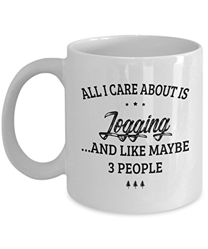 Jogging Mug - I Care And Like Maybe 3 People - Funny Novelty Ceramic Coffee & Tea Cup Cool Gifts for Men or Women with Gift (Religion Womens Tracksuit)