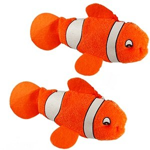 Plush Orange Color Clown Fish Toy For Kids (Pack Of 12)